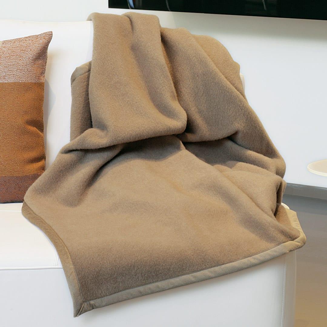 """Cashmere/Merino-Naturhaardecke """"Eurasia"""" - 150x220 cm von allnatura"""