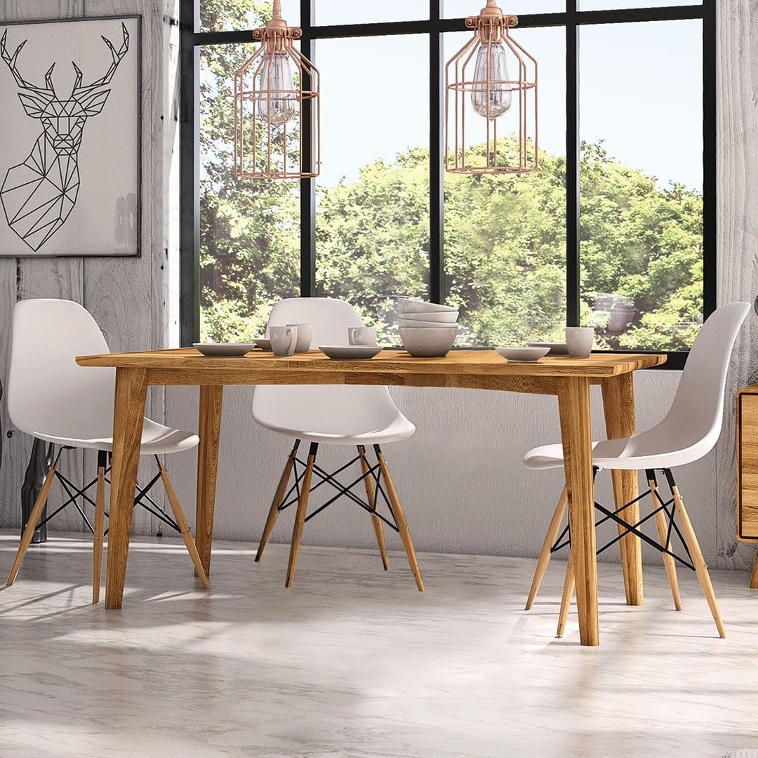 """Tisch """"Tario"""" - 100x190 cm - Wildeiche von allnatura"""