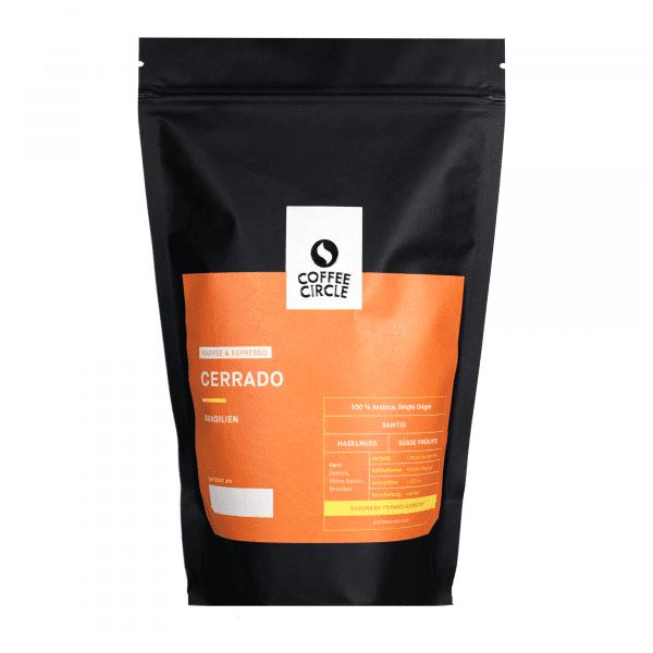 Cerrado Kaffee & Espresso 350g ganze Bohne von Coffee Circle