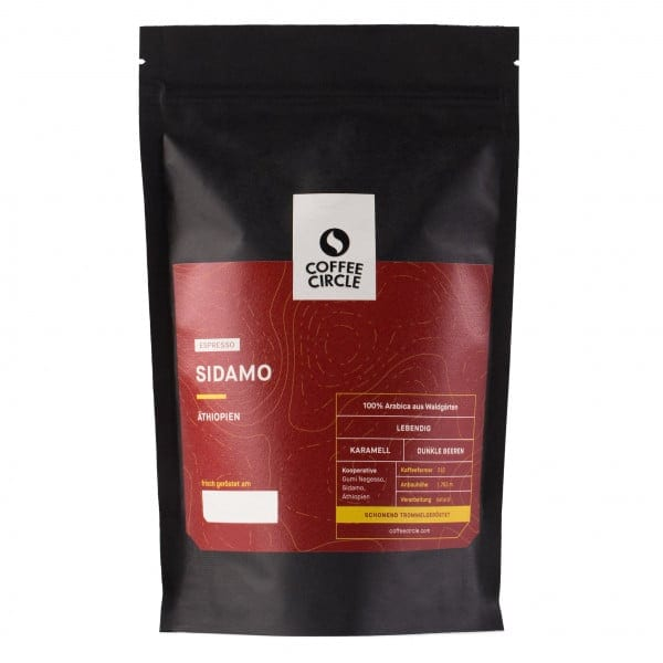 Espresso Sidamo 350g ganze Bohne von Coffee Circle