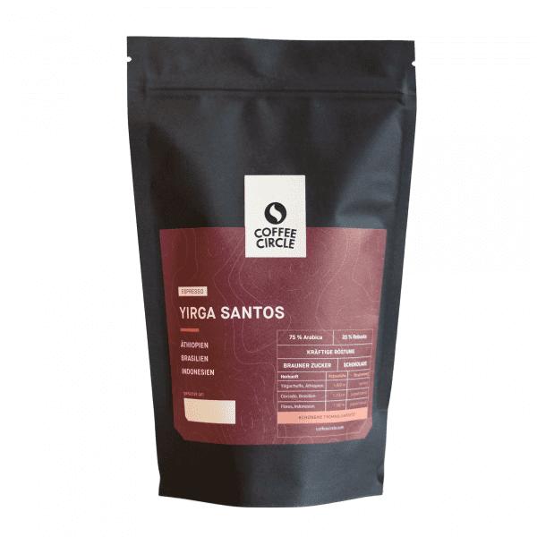 Espresso Yirga Santos 350g ganze Bohne von Coffee Circle