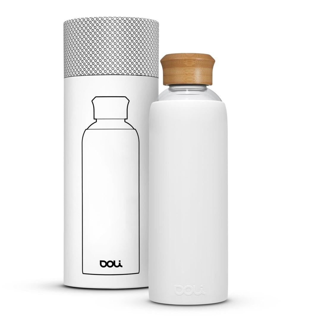 Trinkflasche aus Glas  Bamboo White 500ml von Doli