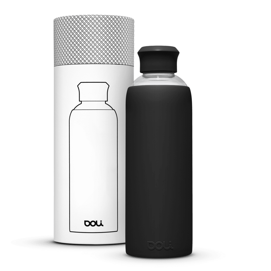 Trinkflasche aus Glas  Black 500ml von Doli