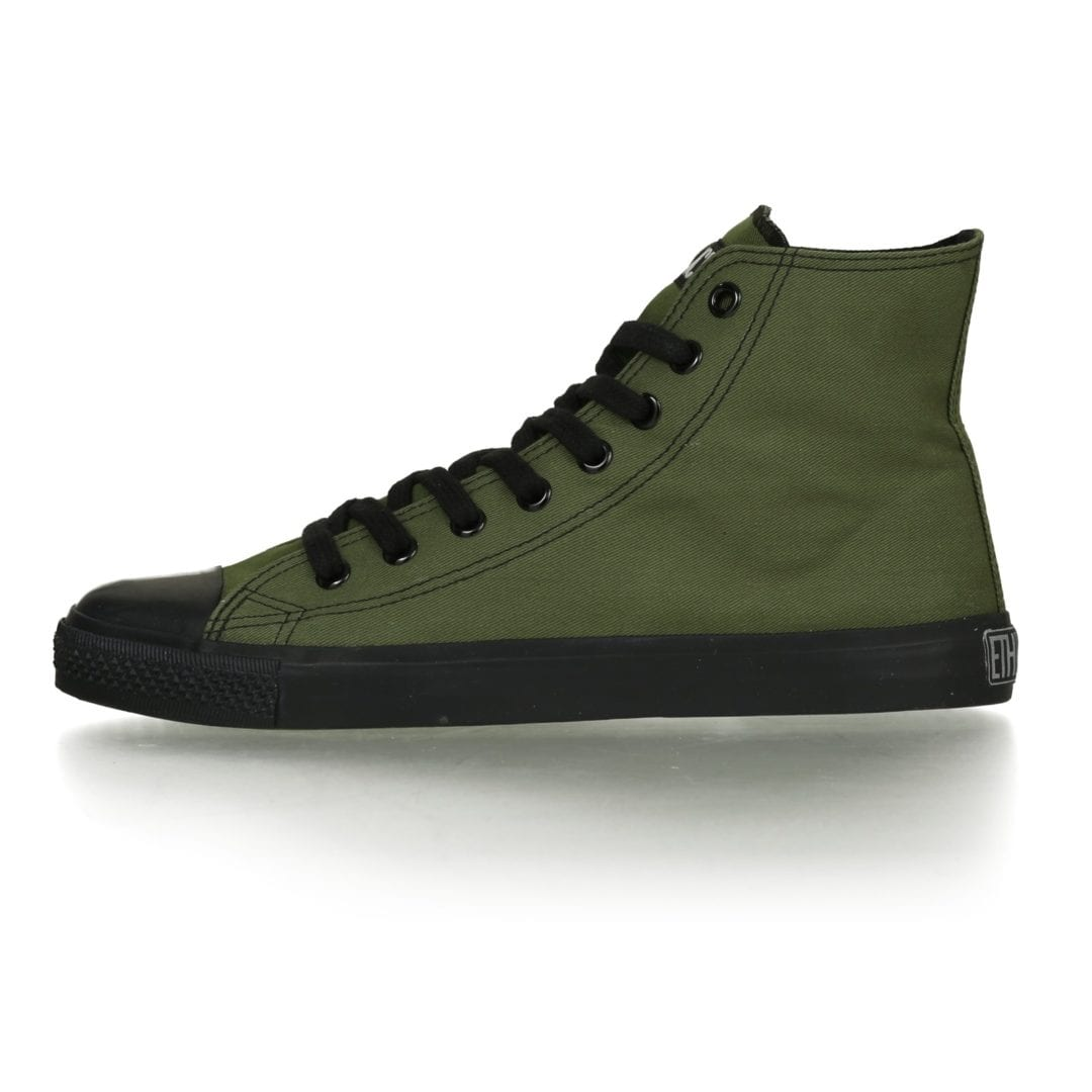 Fair Trainer Black Cap Hi Cut Classic Camping Green Jet Black von Ethletic