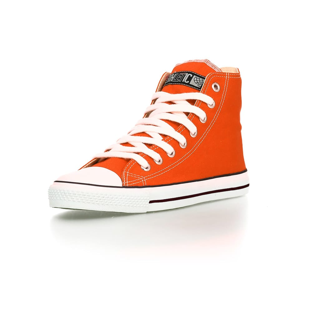 Fair Trainer White Cap Hi Cut Collection 15 Mandarin Orange Just White von Ethletic