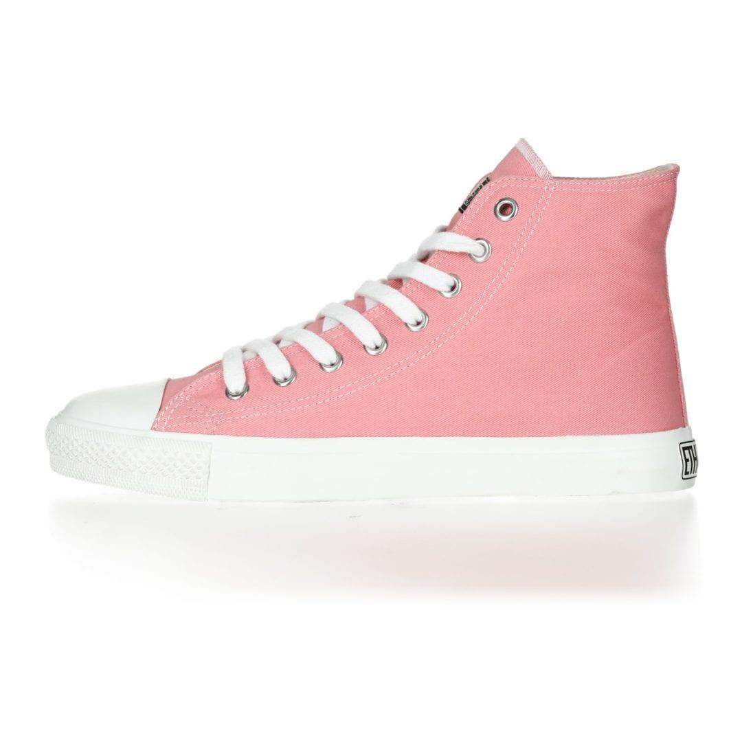 Fair Trainer  White Cap Hi Cut Collection 17 Ice Cream Pink Just White von Ethletic