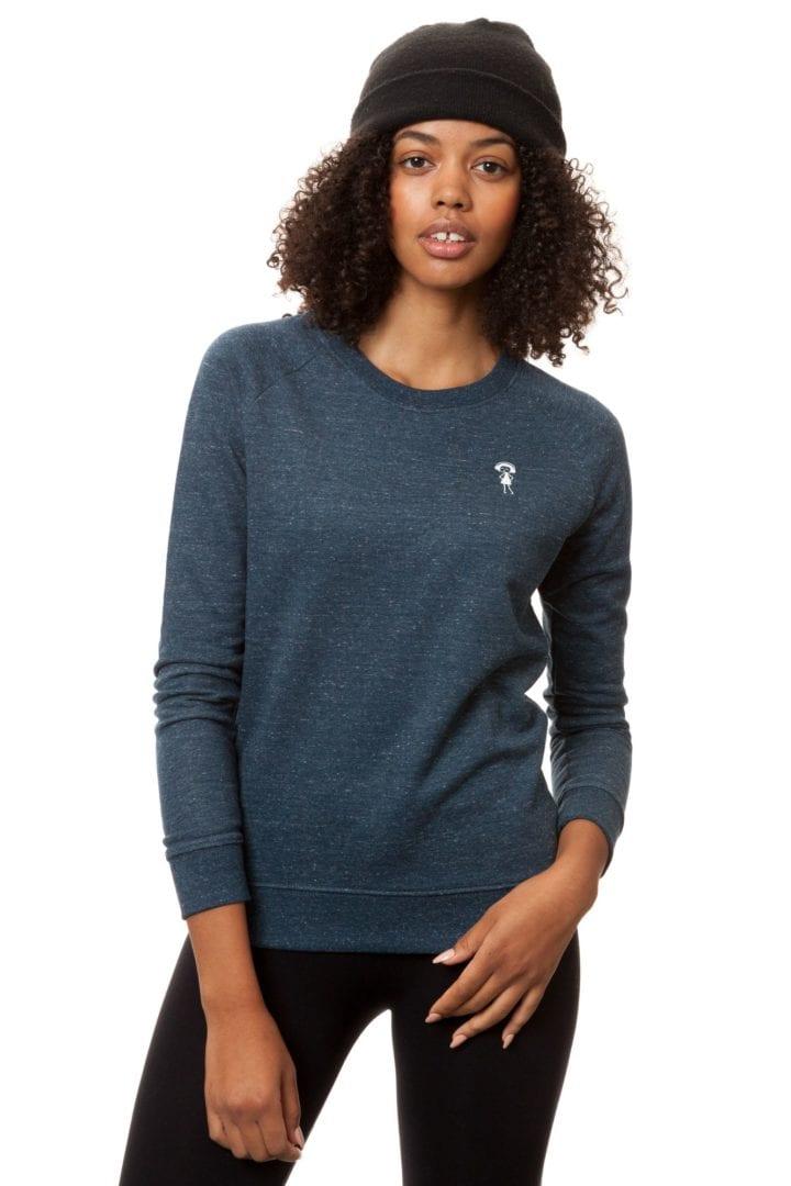 Sweatshirt Logopulli Blau Meliert  von FellHerz