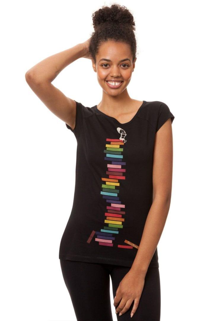 T-Shirt Books Girl Schwarz  von FellHerz