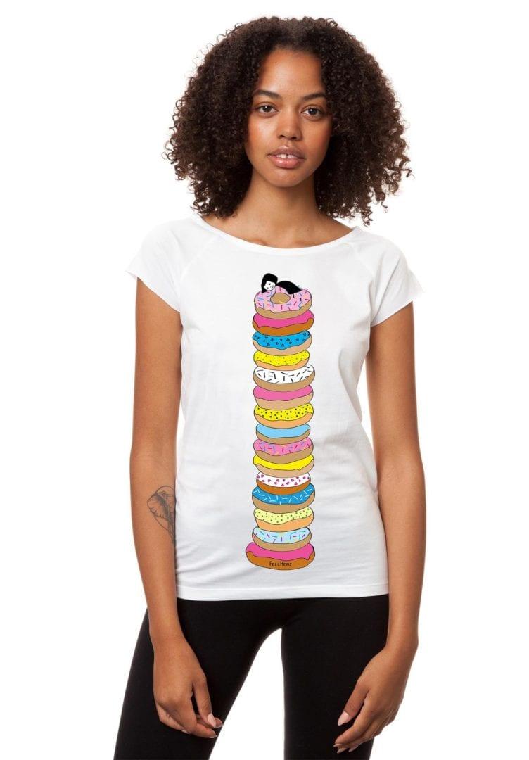 T-Shirt Donutsliebe  von FellHerz