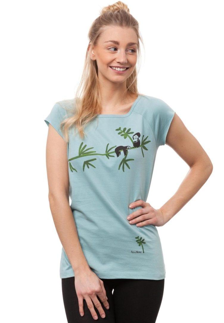 T-Shirt Faultier  von FellHerz