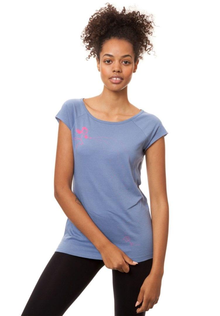 T-Shirt Sternenmädchen Graublau  von FellHerz