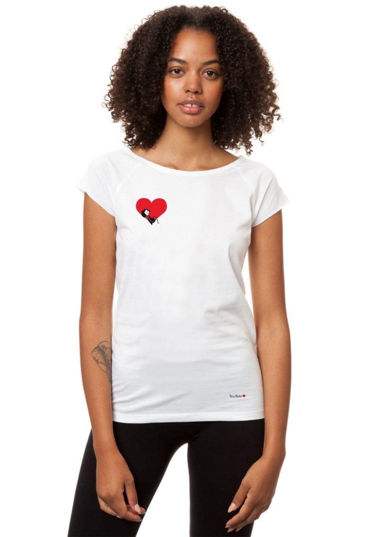 T-Shirt Valentine Girl Weiß  von FellHerz