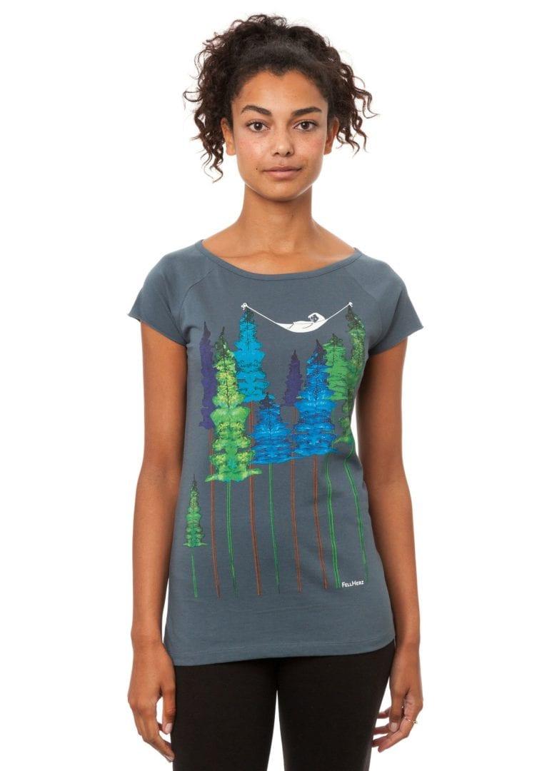 T-Shirt Wood Girl  von FellHerz