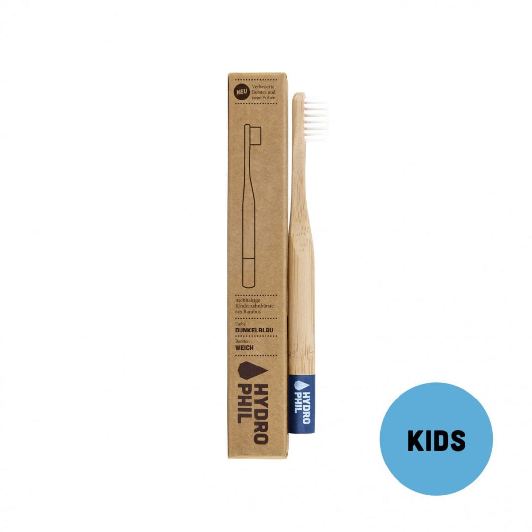 Kinder–Zahnbürste – dunkelblau – extraweich von Hydrophil