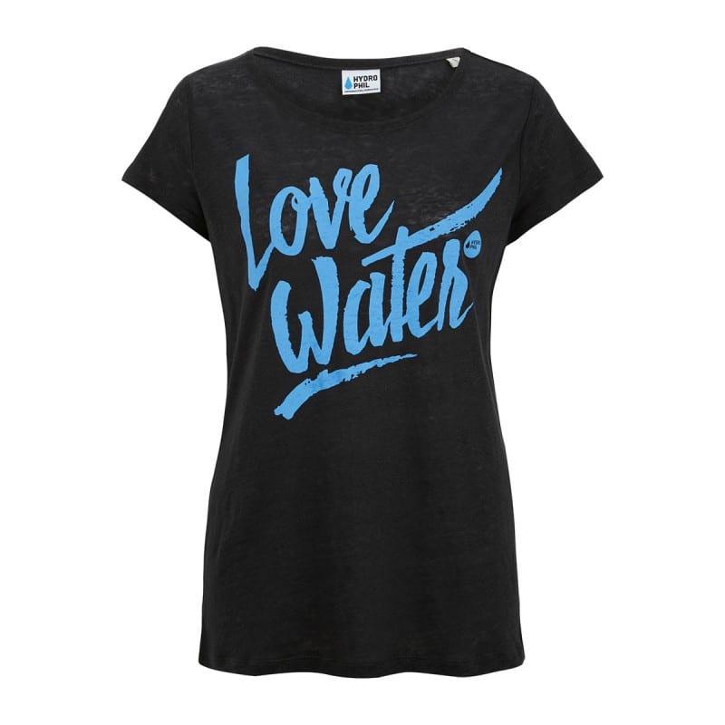 Love Water Shirt aus Leinen – schwarz von Hydrophil