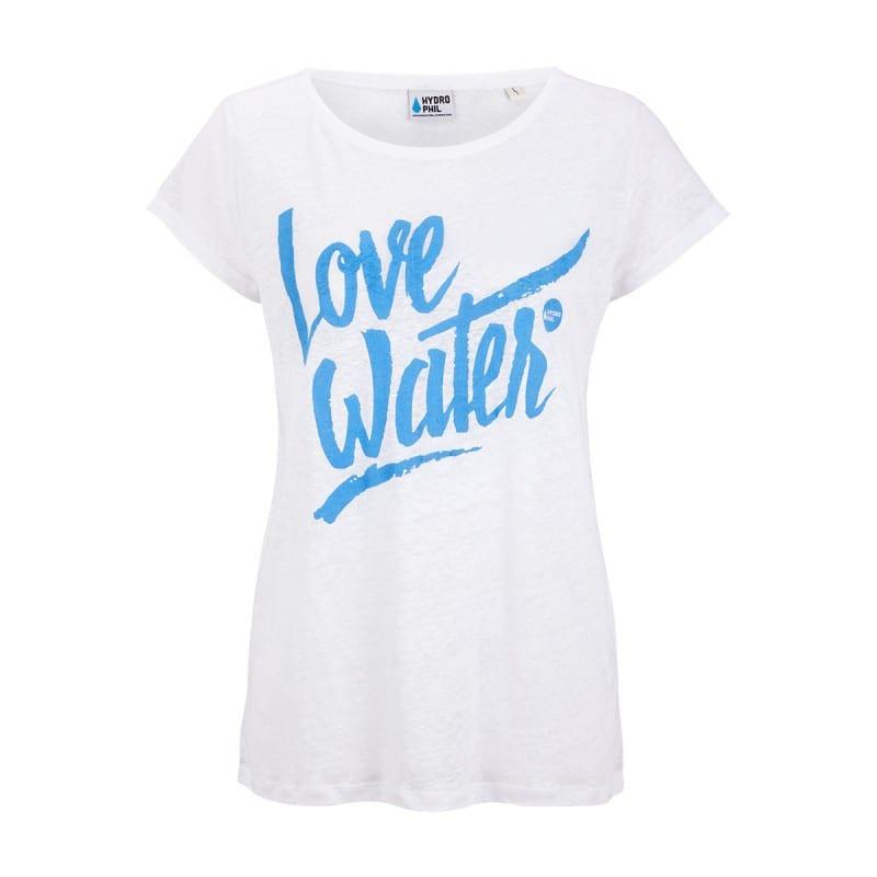 Love Water Shirt aus Leinen – weiss von Hydrophil