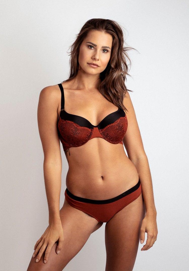 Damen Bikini-Slip WHORLFLOWER Rot von LovJoi