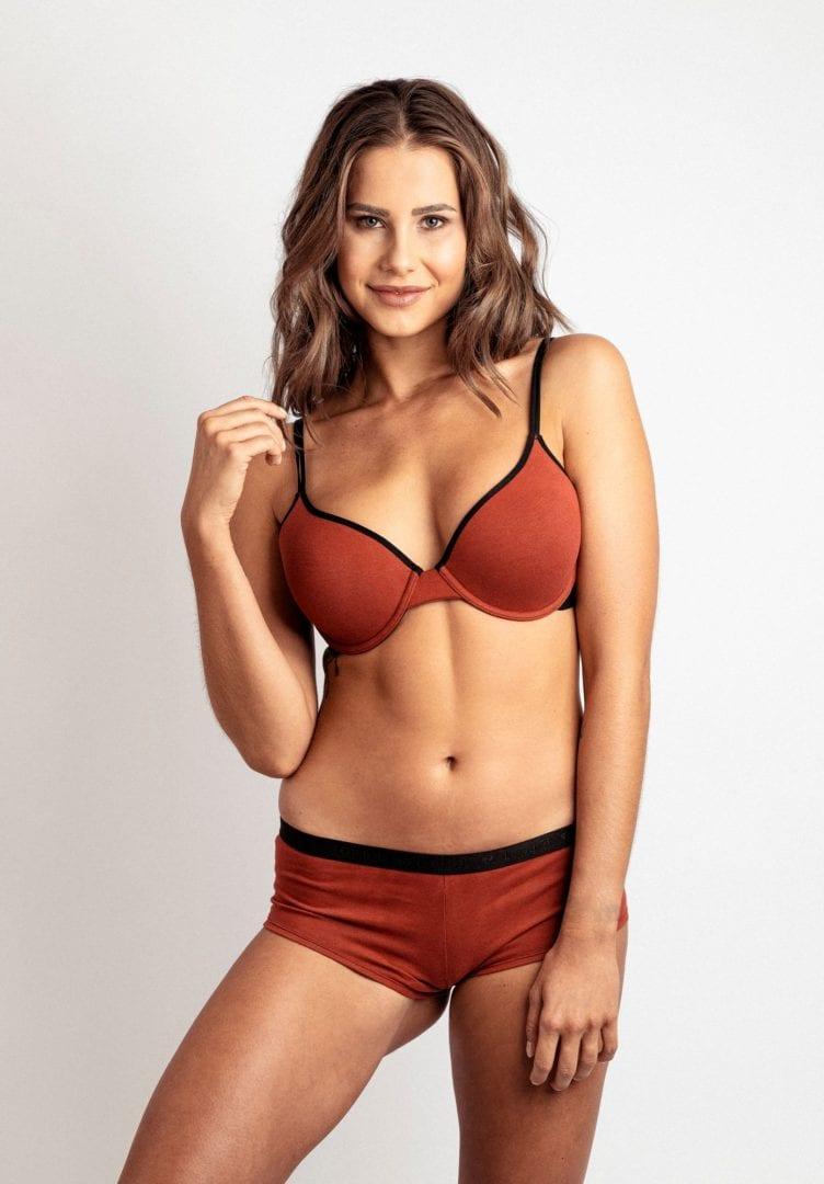 Damen Panty-Slip FLOWERING FERN Rot von LovJoi