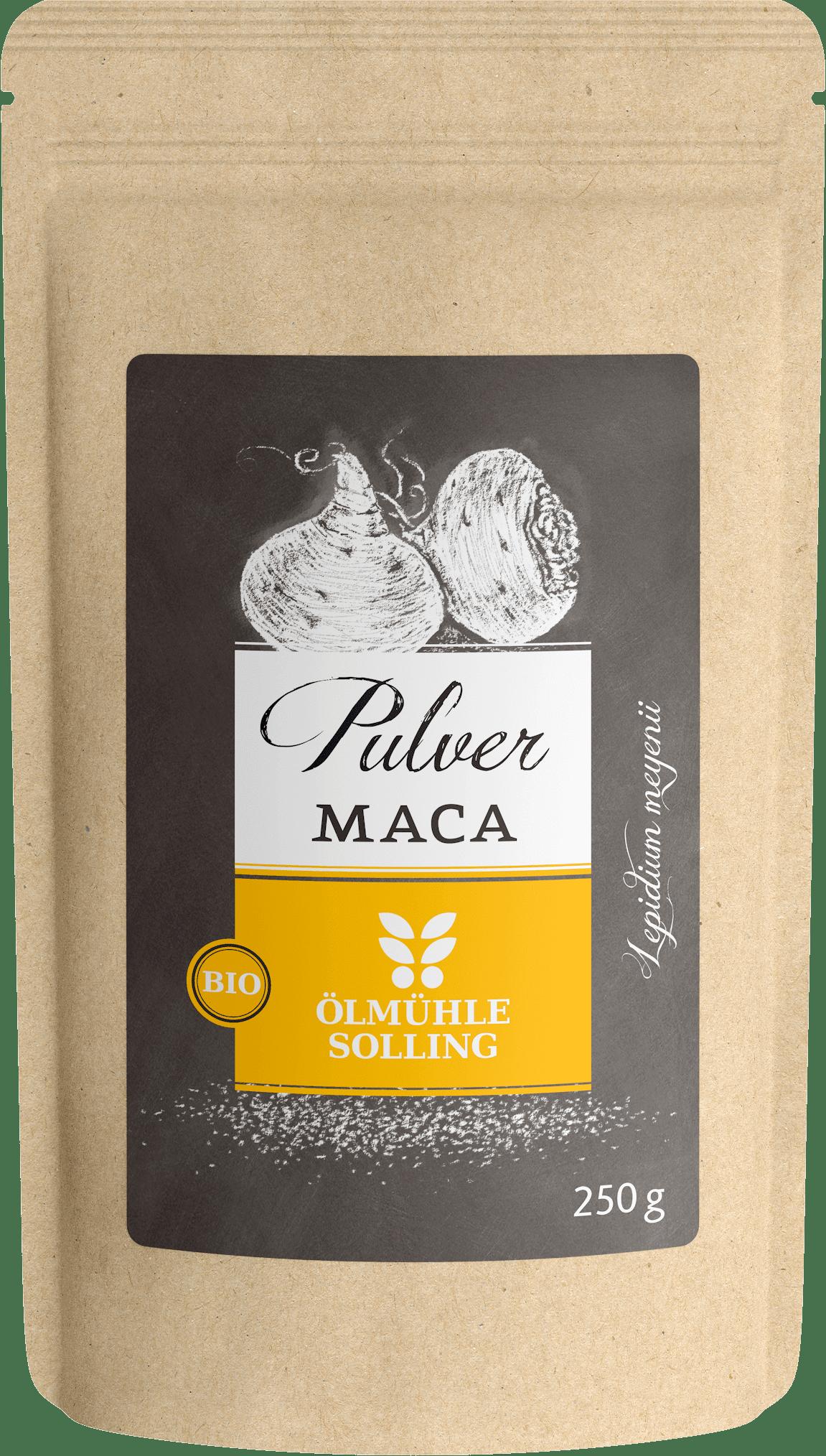 Maca Pulver fein vermahlen 250 g von Ölmühle Solling