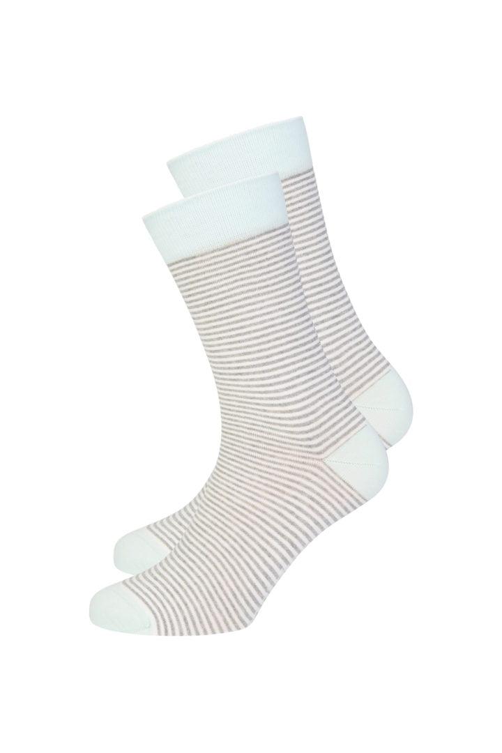 Basic Socks #STRIPES White / Grey / Mint von Recolution