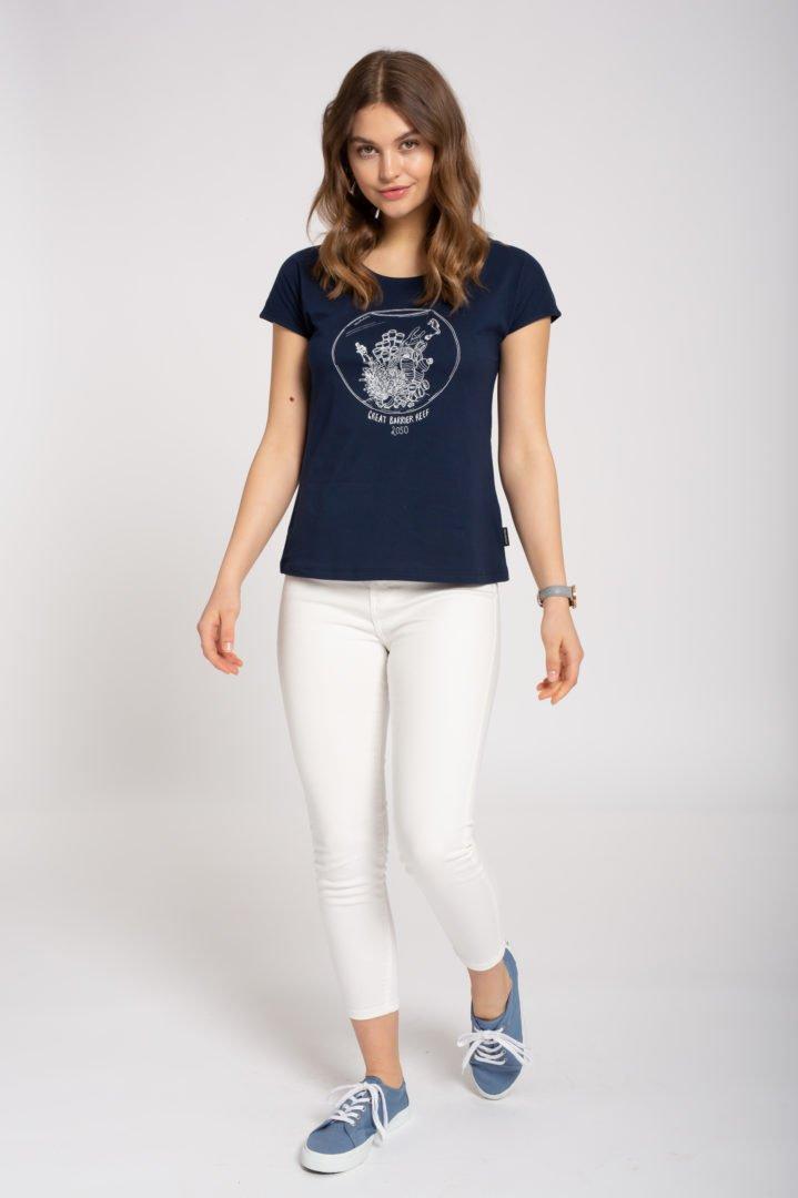 Casual T-Shirt #GREATBARRIERREEF Navy von Recolution