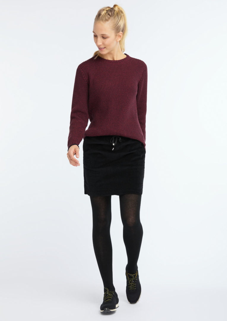 Corduroy Skirt Black von Recolution
