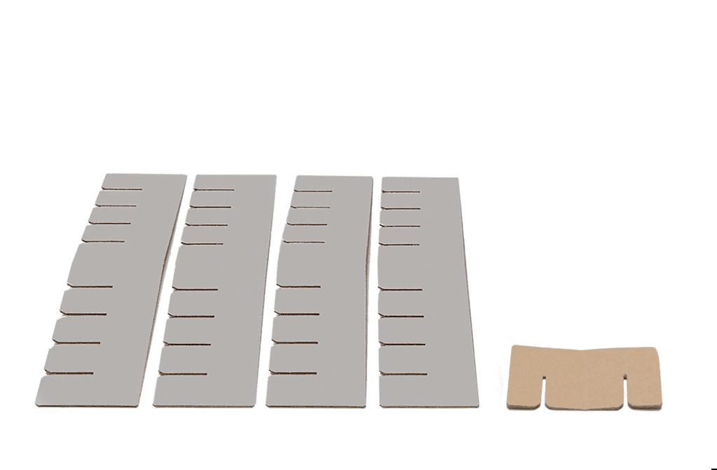 Bett 2.0 Erweiterungsset - kieselgrau von Room in a Box