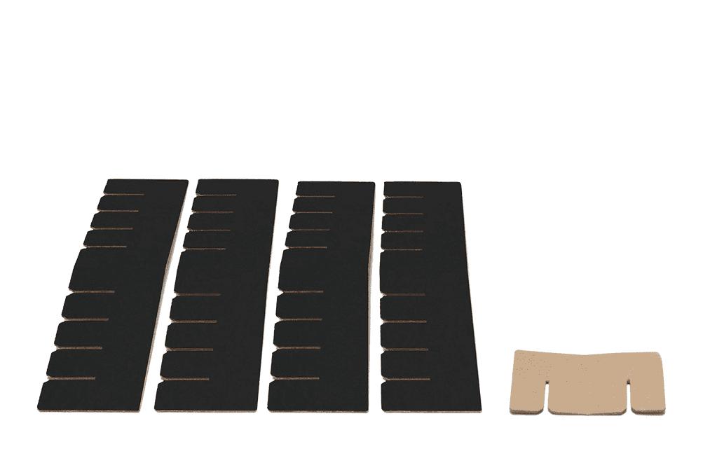 Bett 2.0 Erweiterungsset - schwarz von Room in a Box