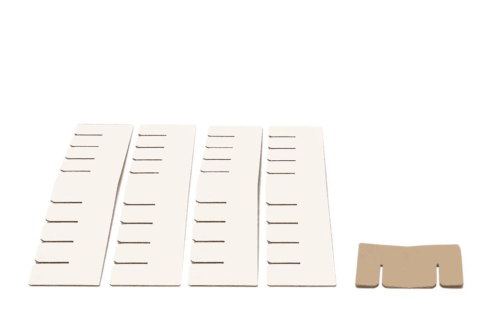 Bett 2.0 Erweiterungsset - weiß von Room in a Box