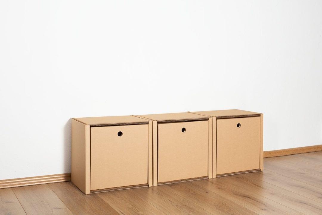 Regal 1x3 - 3 Schubladen hoch / natur von Room in a Box
