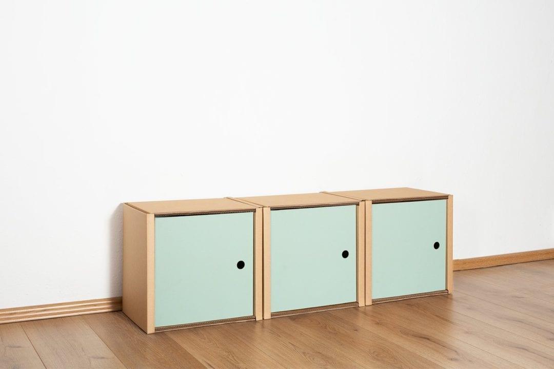 Regal 1x3 - 3 Türen / salbei von Room in a Box