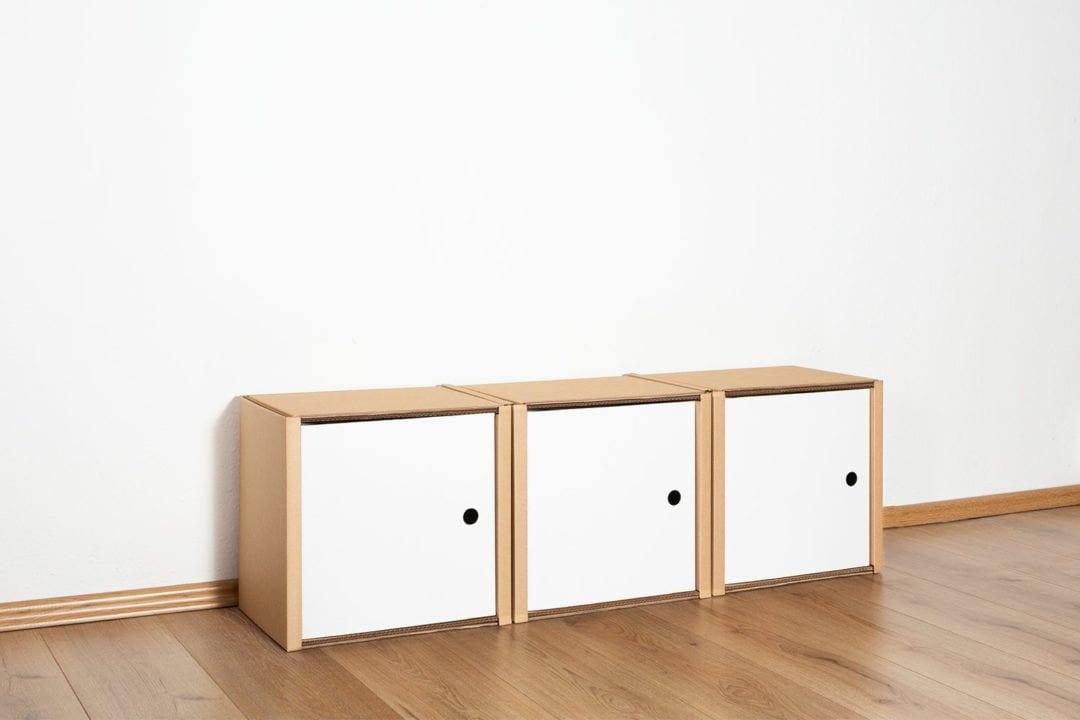 Regal 1x3 - 3 Türen / weiß von Room in a Box