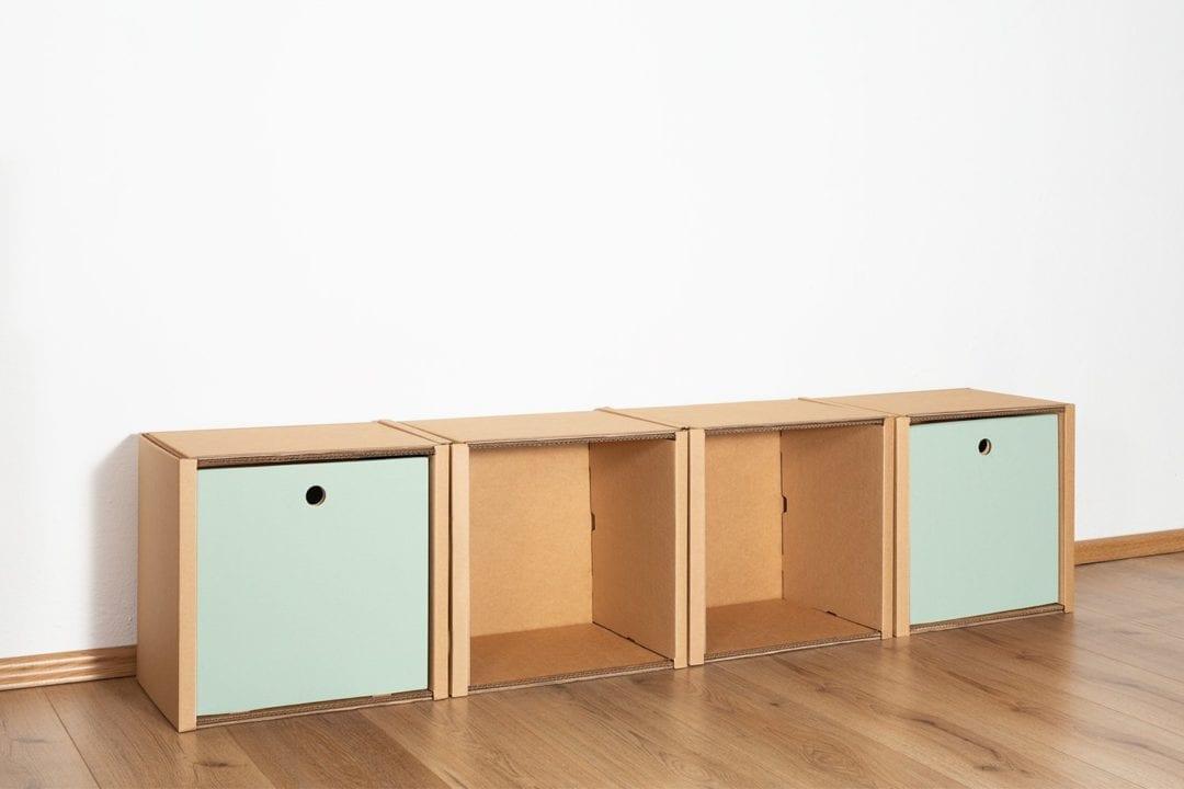 Regal 1x4 - 2 Schubladen hoch / salbei von Room in a Box