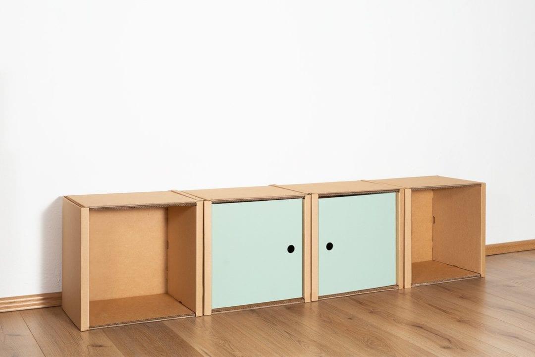 Regal 1x4 - 2 Türen / salbei von Room in a Box