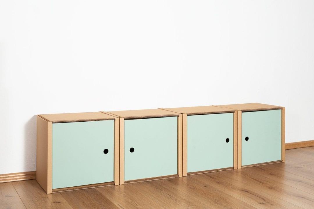 Regal 1x4 - 4 Türen / salbei von Room in a Box