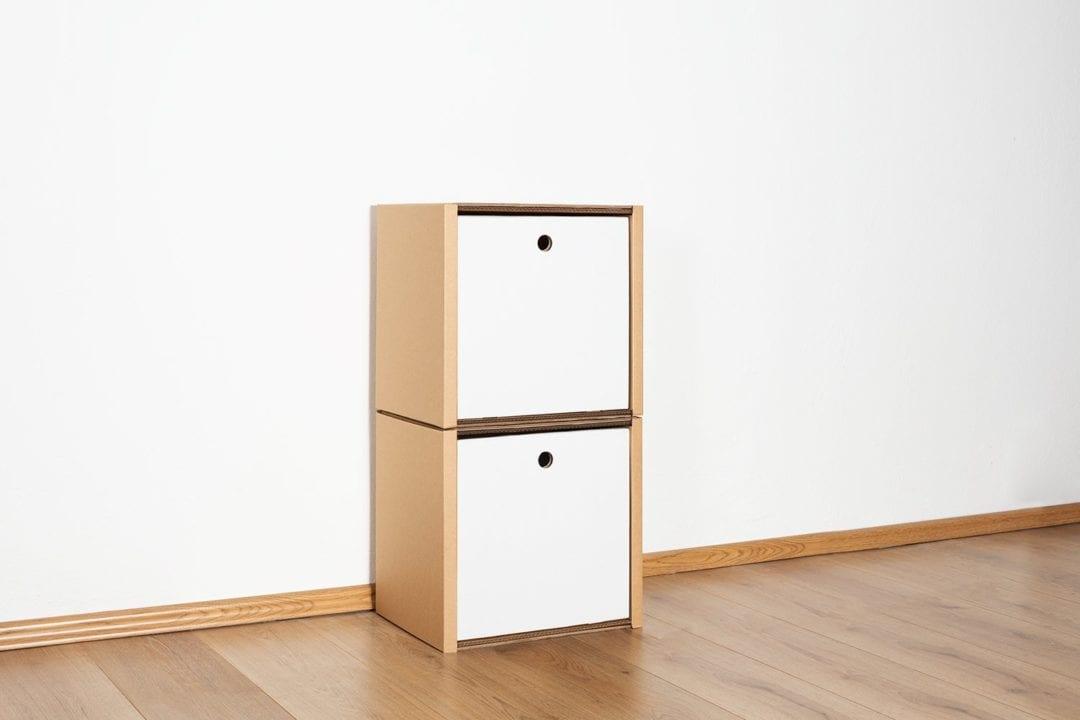 Regal 2x1 - 2 Schubladen hoch / weiß von Room in a Box