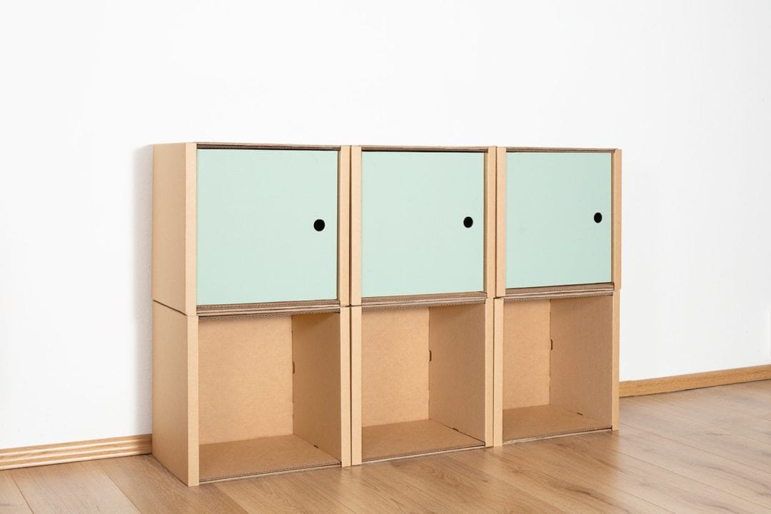 Regal 2x3 - 3 Türen / salbei von Room in a Box