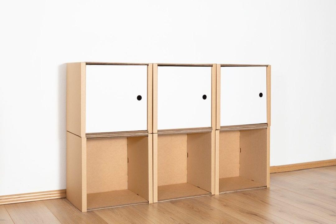 Regal 2x3 - 3 Türen / weiß von Room in a Box