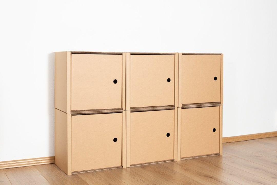 Regal 2x3 - 6 Türen / natur von Room in a Box