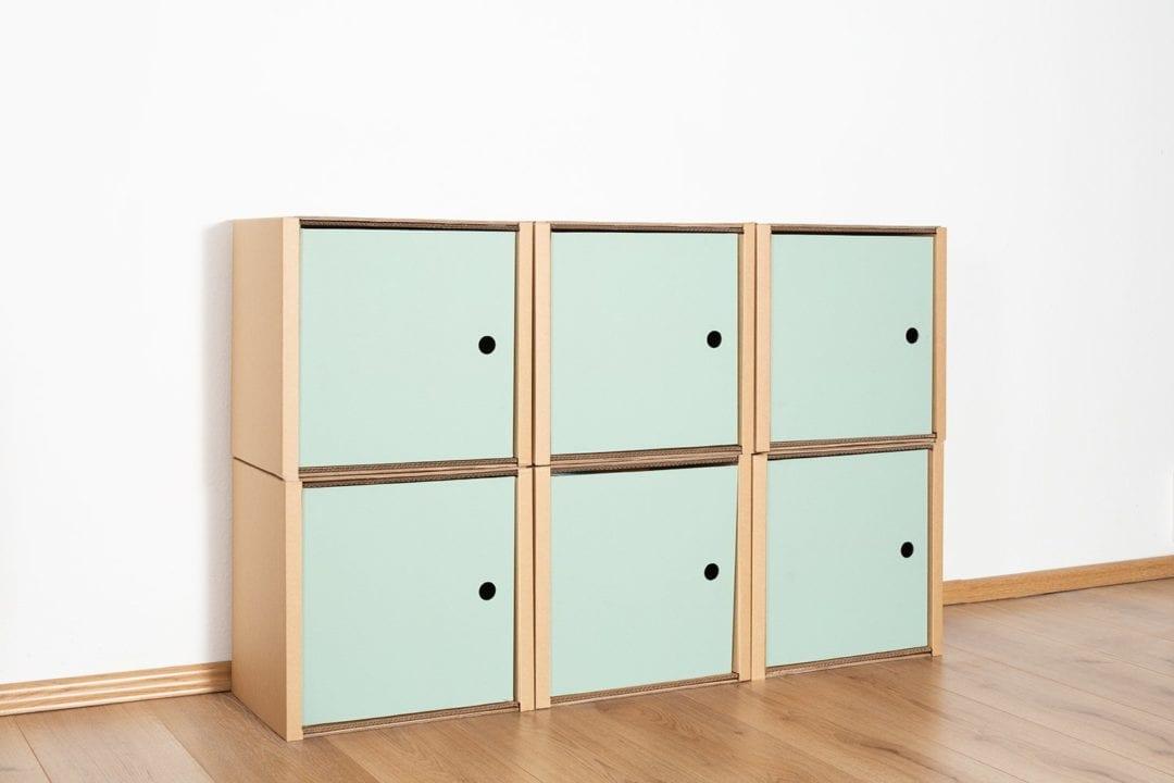 Regal 2x3 - 6 Türen / salbei von Room in a Box