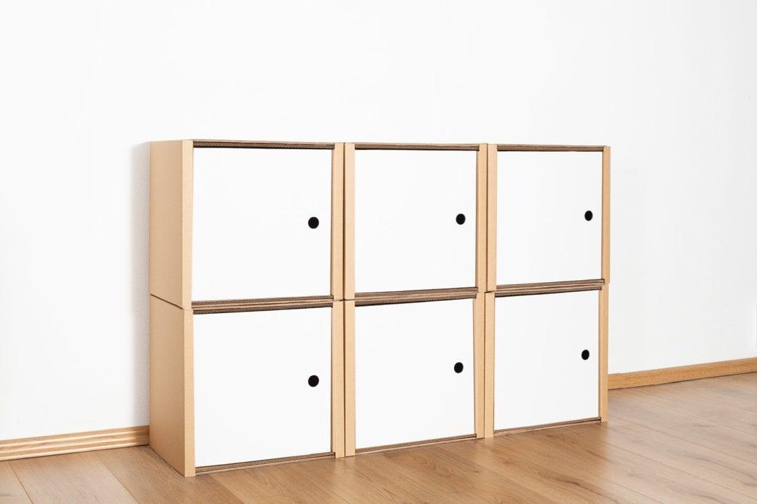 Regal 2x3 - 6 Türen / weiß von Room in a Box