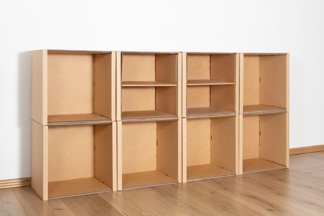 Regal 2x4 - 2 Regalböden / natur von Room in a Box