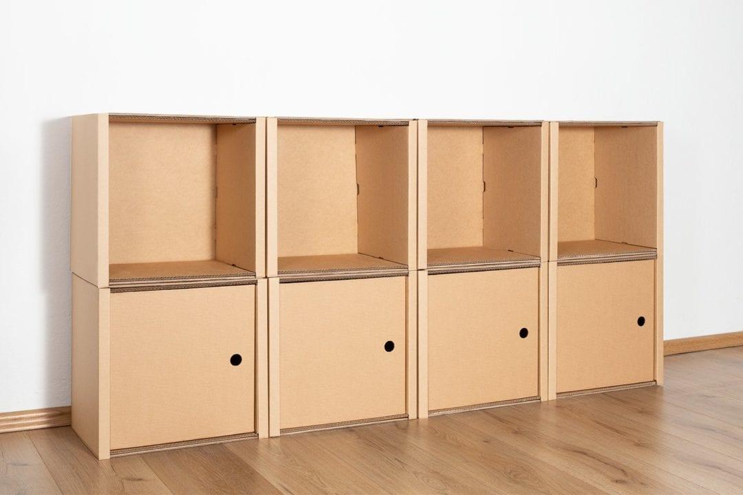 Regal 2x4 - 4 Türen / natur von Room in a Box