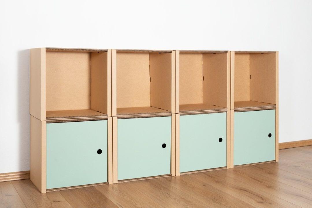Regal 2x4 - 4 Türen / salbei von Room in a Box