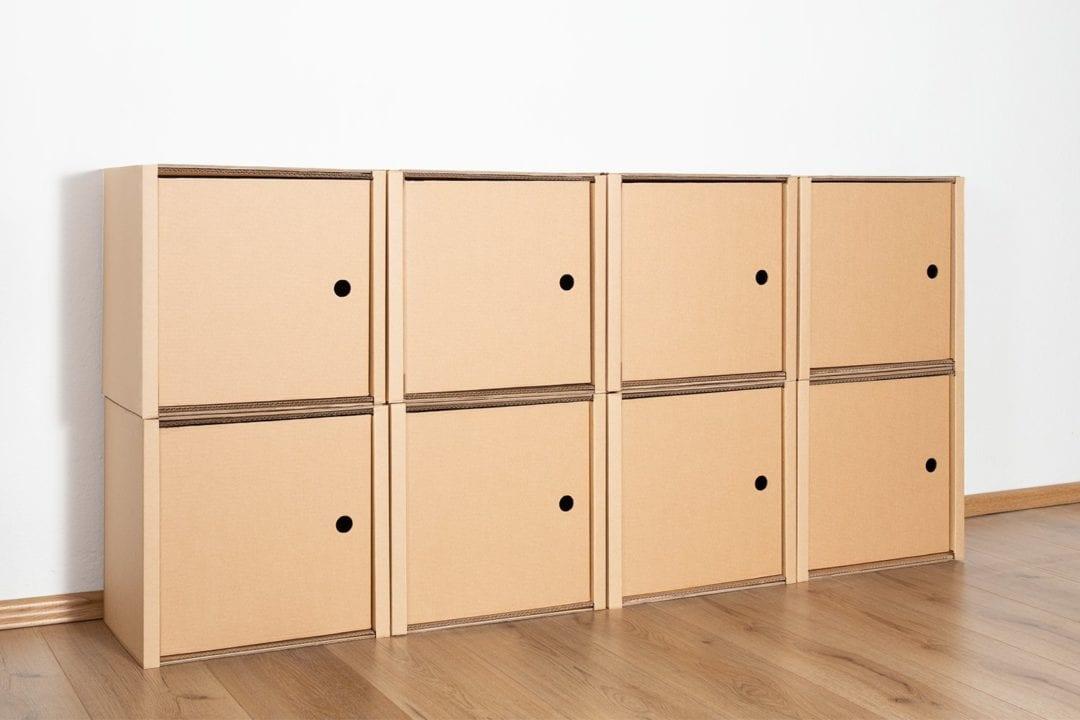Regal 2x4 - 8 Türen / natur von Room in a Box