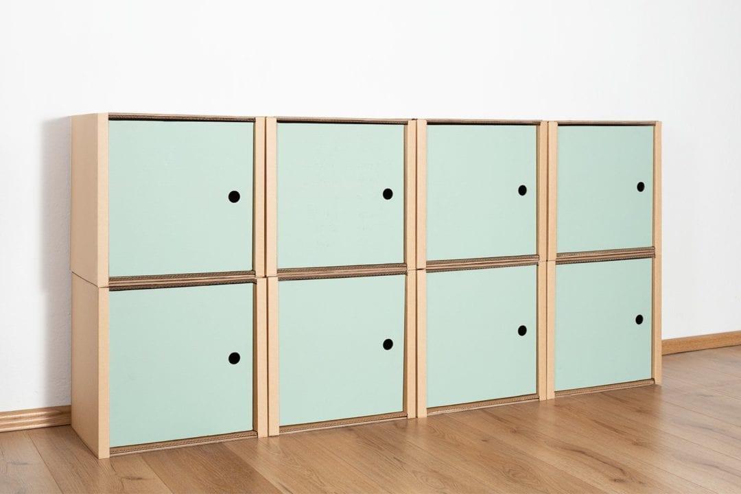 Regal 2x4 - 8 Türen / salbei von Room in a Box