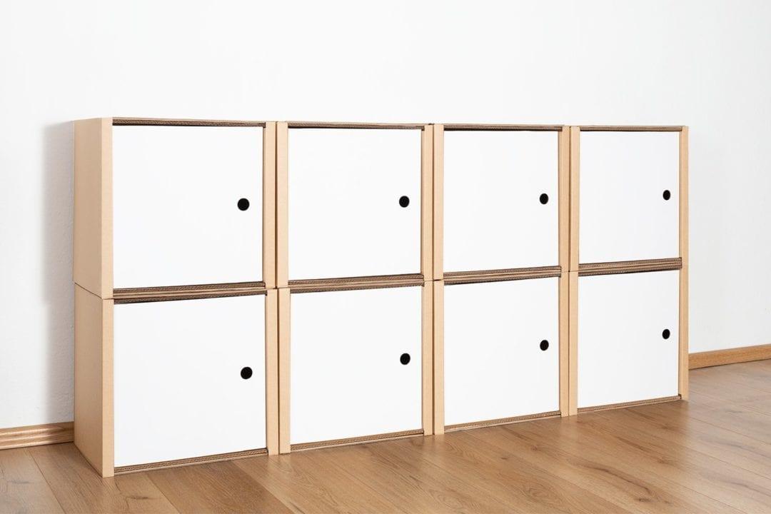 Regal 2x4 - 8 Türen / weiß von Room in a Box