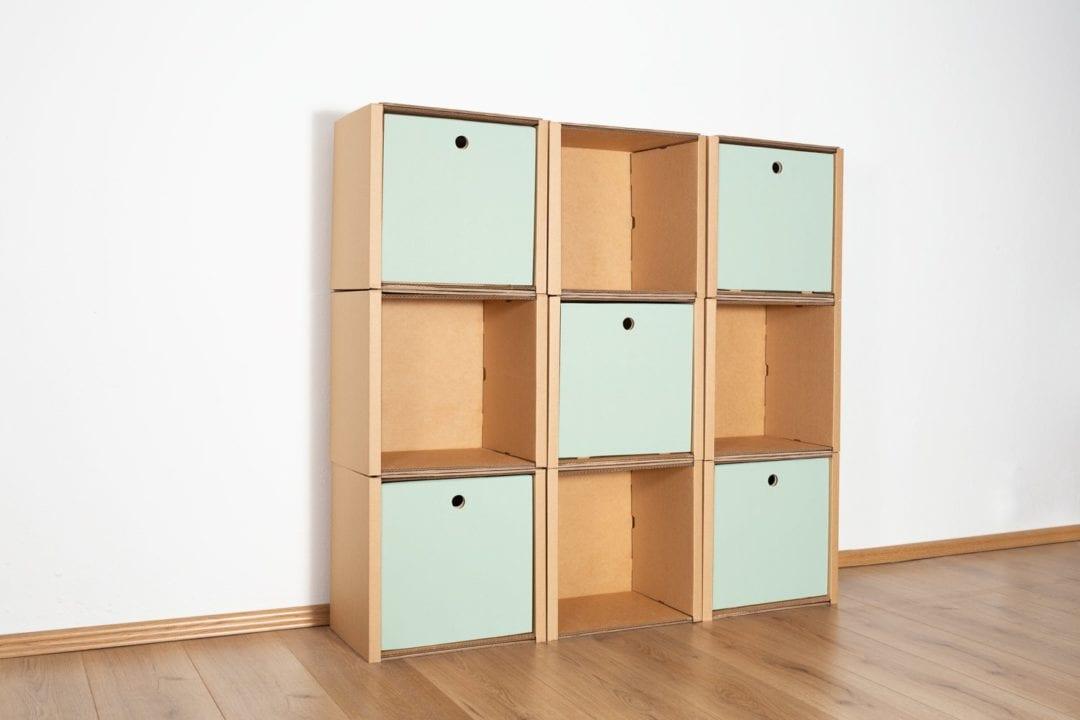 Regal 3x3 - 5 Türen / salbei von Room in a Box