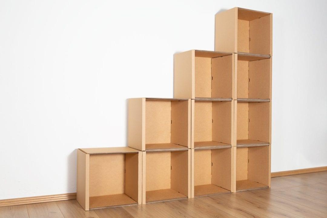 Stufenregal groß - keine / keine von Room in a Box