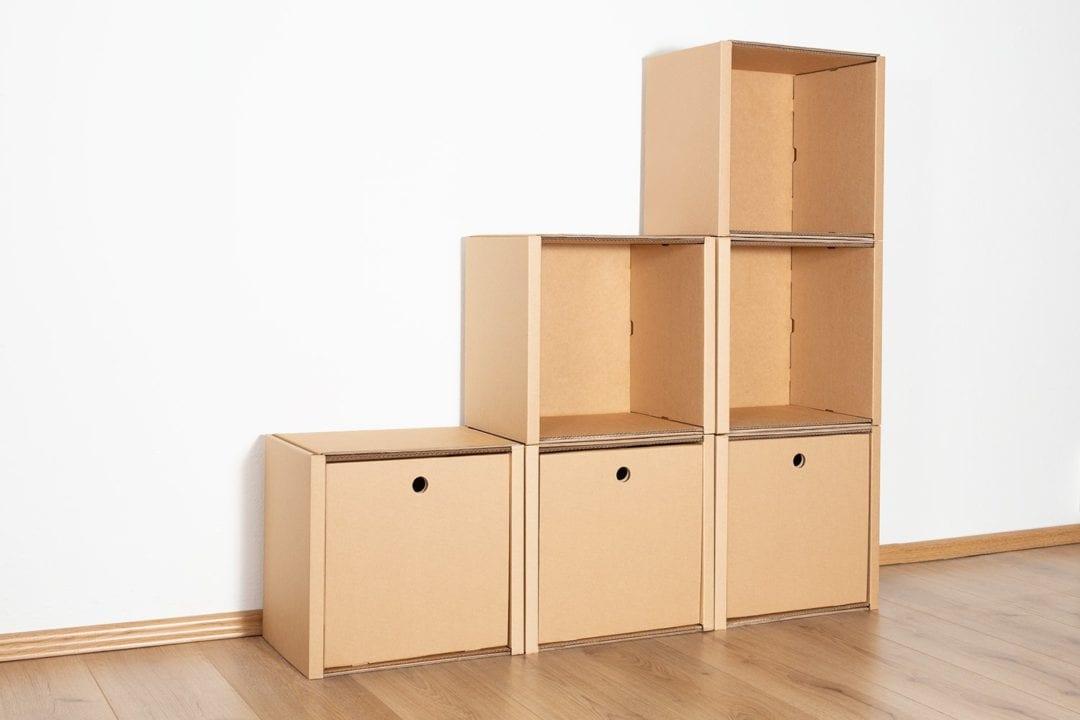 Stufenregal klein - 3 Schubladen hoch / natur von Room in a Box